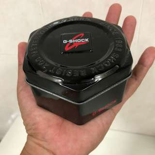 Hexagon G-Shock Empty Tin Container
