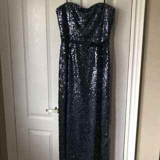 Sequinned BCBG Maxi Dress with side slit