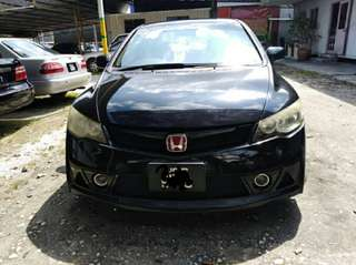 Honda civic fd 1.8 auto sambung bayar or continue loan
