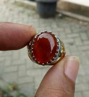 Cincin Red Baron Chalcedony Pacitan Kilap Mulus