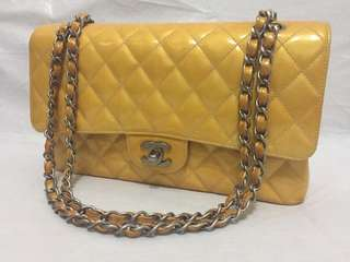 Chanel pttrn leather sunflower colour