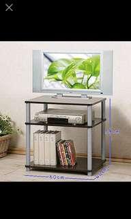 簡易組合胡桃木色電視櫃/電視架/置物架