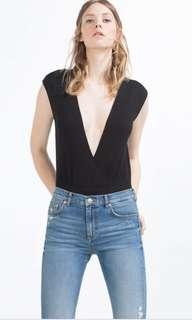 Zara Plunge Neck Bodysuit