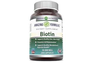 [IN-STOCK] Amazing Formulas Biotin Supplement - 10,000mcg - 200 Capsules - Supports Healthy Hair, Skin & Nails - Promotes Cell Rejuvenation