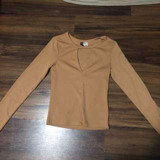 H&M Long Sleeve Top with Cut Out
