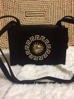 GIANNI VERSACE VINTAGE SUEDE SHOULDER BAG