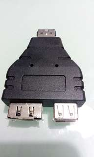 Sata male to both females of USB & data adapter