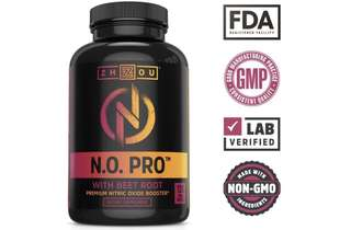 [IN-STOCK] Zhou Nutrition Nitric Oxide Supplement with L Arginine, Citrulline Malate, AAKG and Beet Root - Powerful N.O. Booster and Muscle Builder for Strength, Blood Flow and Endurance - 120 Veggie Capsules