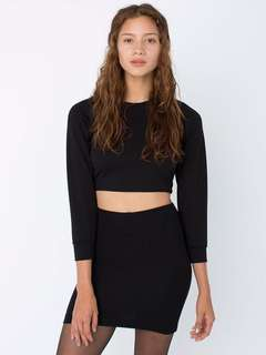 American Apparel Ponte Mini Skirt