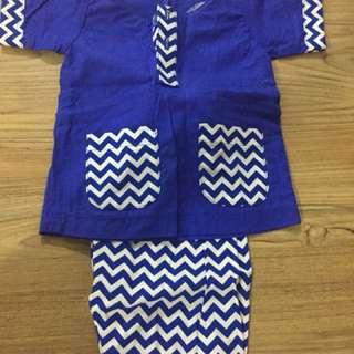 Baju Melayu Newborn 0-6 mnths
