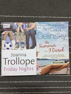 Friday night by joanna trollope and the summer i dared by barbara delinsky