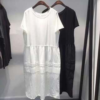 韓國2day氣質白色連身裙