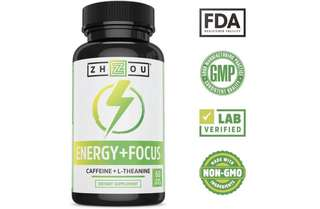[IN-STOCK] Zhou Nutrition Caffeine with L-Theanine for Smooth Energy & Focus - Focused Energy for Your Mind & Body - No Crash ▫ No Jitters - #1 Nootropic Stack for Cognitive Performance - Veggie Capsules