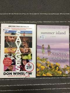 Savage by don winslow and summer island by kristin hannah