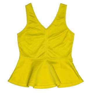Neon Yellow Peplum Top