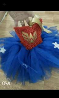 Pre loved wonder woman costume for 1 yr old.