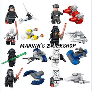 New Arrival Star Wars 8in1 Minifigures