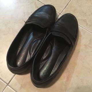 Kickers Leather School Shoes