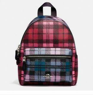 AUTHENTIC COACH MINI CHARLIE BACKPACK IN LELAY PRINTED