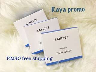 Authenthic Laneige white dew trial kit