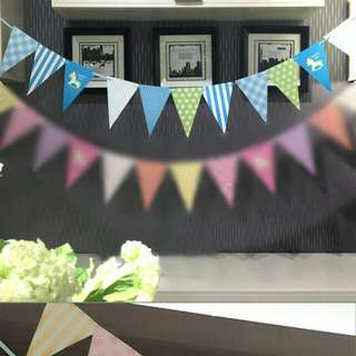 Brand new blue and green bunting