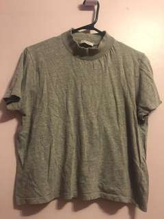 Zara Mock Neck TShirt