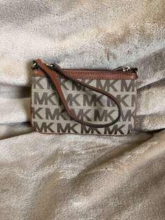 Authentic Michael Kors Brown Wristlet