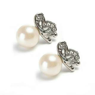 Cute Pearl Butterfly Ear Stud