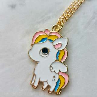 Baby unicorn necklace