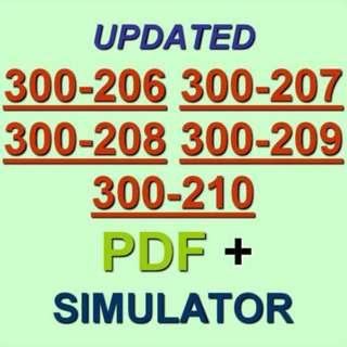 Cisco CCNP Security 300-206 300-207 300-208 300-209 300-210 Test Exam QA PDF+SIM