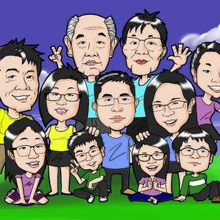 Caricature digital full colour