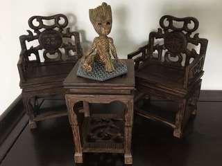 迷你精緻木椅桌