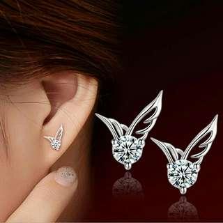 925 Sterling Angel Wing Silver Jewelry