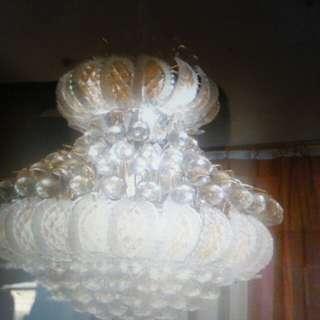 Jual cepat dan murah 2 buah lampu kristal asli