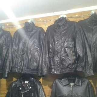 Jaket kulit asli import branded