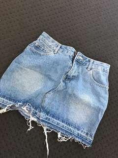Denim mini skirt cotton on size 6