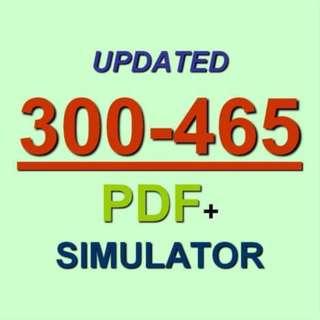 Designing the Cisco Cloud CCNP CLDDES Test 300-465 Exam QA PDF+Simulator