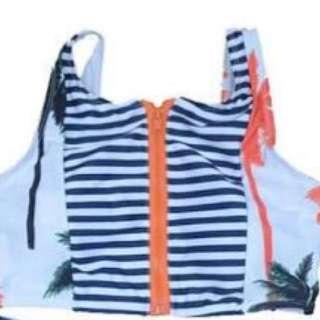 Palm Tree High waisted bikini
