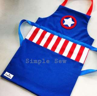 Inspired Captain America Apron
