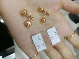 Pure 18k saudi gold STUD 👂