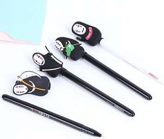 Kaonashi No-face man Spirited Away cute black gel pen