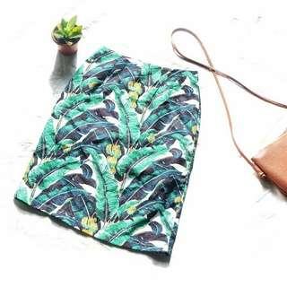 Tropical Bandage Skirt