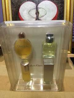Calvin Klein EDT set of 4 Authentic vintage for collection display