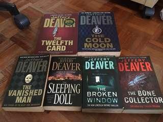 Various Jeffrey Deaver books