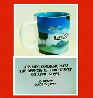 罕有绝版:1992年歐洲迪士尼開幕纪念版杯(日本造) 绝版收藏品