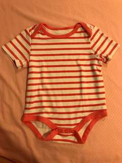 Pink and White Stripes Baby Romper