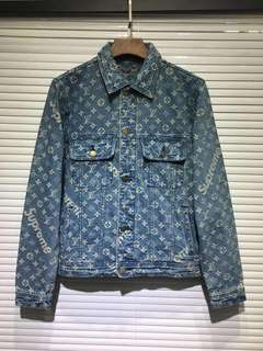 authentic lv x supreme denim jacket preorder
