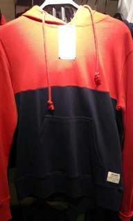 Pull & Bear Hoodie Sweater Red Blue