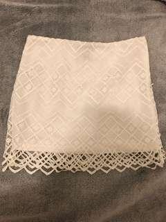 Forever 21 White Lace Mini Skirt