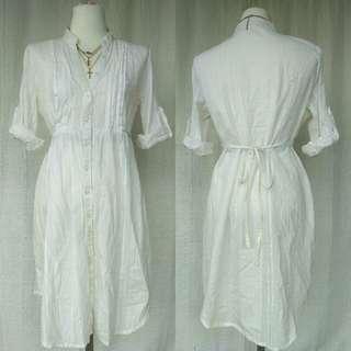 White Buttondown Dress